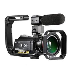 ORDRO AC3 4K Camcorder, Ultra HD Video Camera 1080P 60FPS Wi