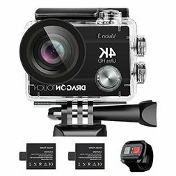 Dragon Touch 4K Action Camera 16MP Vision 3 Underwater Water