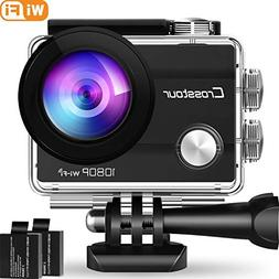 Crosstour Action Camera Underwater Cam WiFi 1080P Full HD 12
