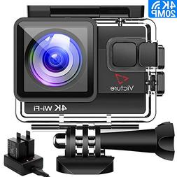 Victure 4K Action Camera 20MP WiFi Underwater Camera Diving