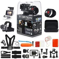 SportPro 4K UHD WiFi Touch Screen Action Camera with Wireles