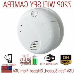 AES 60 Day Battery Powered WIFI Smoke Detector Wireless Spy