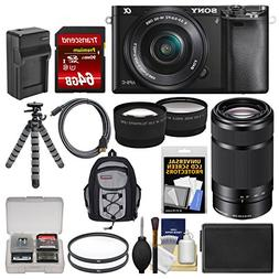 Sony Alpha A6000 Wi-Fi Digital Camera & 16-50mm & 55-210mm L