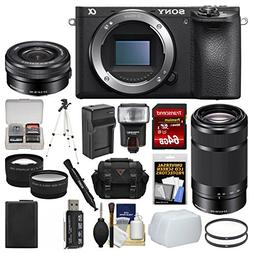 Sony Alpha A6500 4K Wi-Fi Digital Camera Body with 16-50mm &