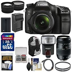Sony Alpha A68 Digital SLR Camera & 18-55mm with 70-300mm Le