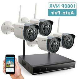 ONWOTE Outdoor Wireless Home Security Camera System