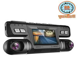 Pruveeo B80 Dash Cam With Wifi, Dual 1080P Front And Inside,