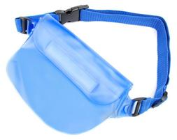 DURAGADGET Blue Water Resistant Pouch with Adjustable Strap