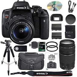 Canon EOS Rebel T6i DSLR Camera Bundle with Canon EF-S 18-55
