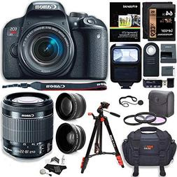 Canon EOS Rebel T7i Camera, EF-S 18-55 IS STM Lens Kit, Lexa