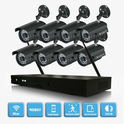 CCTV Security Camera System HDMI 4CH/8CH Video Wifi Home Out