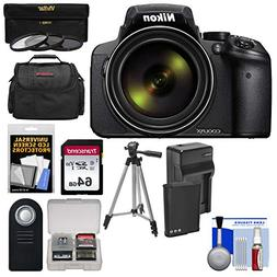 Nikon Coolpix P900 Wi-Fi 83x Zoom Digital Camera + 64GB Card