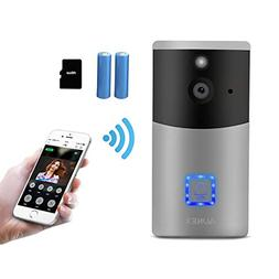 Video Doorbell AUNEX WiFi Doorbell Camera PIR Motion Detecti