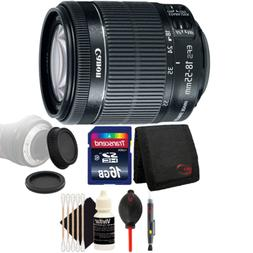 Canon EF-S 18-55mm f/3.5-5.6 IS STM Lens w/ Accessory Kit Fo