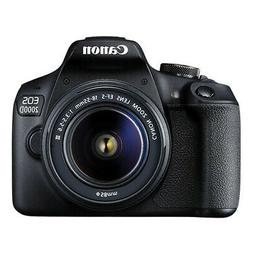 Canon EOS 2000D / Rebel T7 DSLR Camera with EF-S 18-55mm f/3