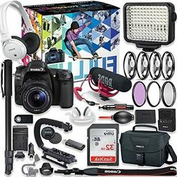 Canon EOS 80D DSLR Camera Premium Video Creator Kit with Can
