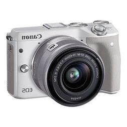 Canon EOS M3 24.2MP 1080P Wi-Fi Camera with EF-M 15-45mm is