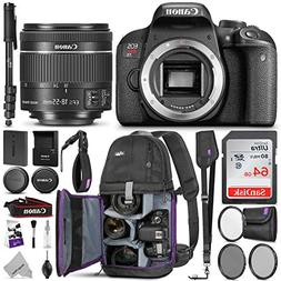 Canon EOS Rebel T7i / 800D DSLR Camera + EF-S 18-55mm Lens &
