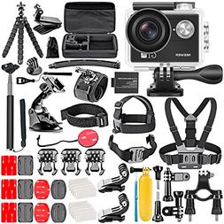 Neewer G1 Ultra HD 4K Action Camera Kit Includes 12MP, 98 ft
