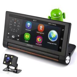 "GPS Touchscreen Android DVR Dashcam - 7"" Display, Navigati"