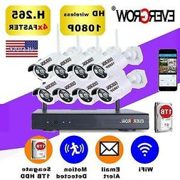 New 8CH 1080P Wireless Wifi Outdoor IR Night Vision Home Sec