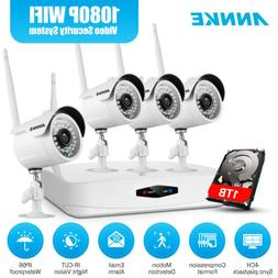ANNKE HD 1080P 4CH NVR Wireless IP Security Camera System 2M