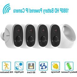 HD 1080P Wireless Wifi IP 4 Security Camera System Outdoor B