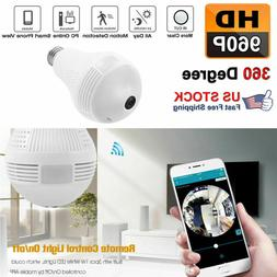 HD 960P 1.3MP DVR 360° WiFi Camera Bulb Light Smart Securit