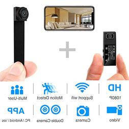 Hidden Spy Camera,1080P WiFi Mini Camera Portable Wireless S