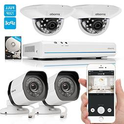 Home Secure Camera  Surveillance 2x Outdoor 2x Indoor 8CH 10