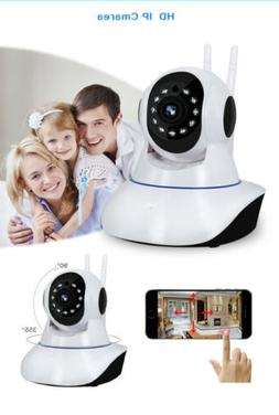 Home Security Cameras WiFi Clear Audio LED Night Vision Wire