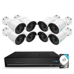 Reolink 16CH 5MP PoE Home Security Camera System, 8 x Wired