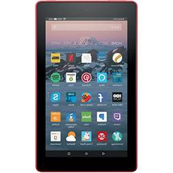"Kindle Fire 7 Tablet with Alexa, 7"" Display, 8 GB Punch Red"