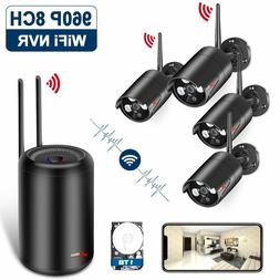 Kit System of Surveillance WiFi 1080P NVR Wireless, 4 Camera
