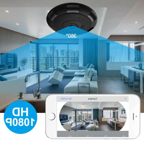 1080P 360° Wifi Camera Smart Home Security System