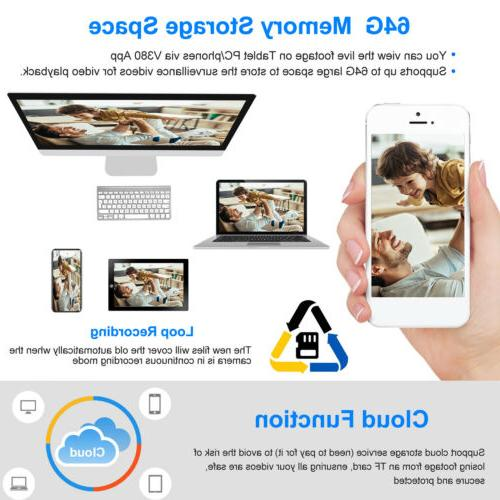 1080P Smart Home Security Camera 360° Baby Monitor