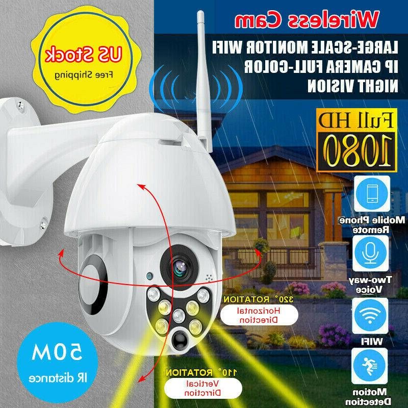1080p wireless ptz security camera waterproof wi