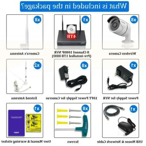 2019 Security 8 Channel cameras+4TB CCTV New