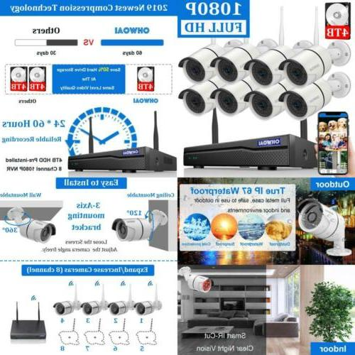 2019 new security camera 8 channel 1080p