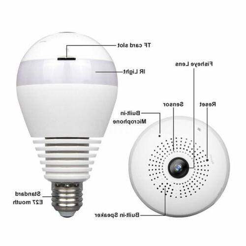 360 Degree Panoramic HD Camera Light Bulb Cam