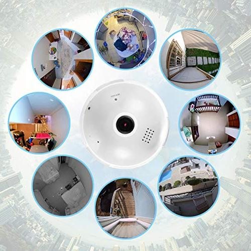 360 Degree Panoramic Light BESDERSEC HD 960P Wireless Camera Pet Remote Viewing Detection