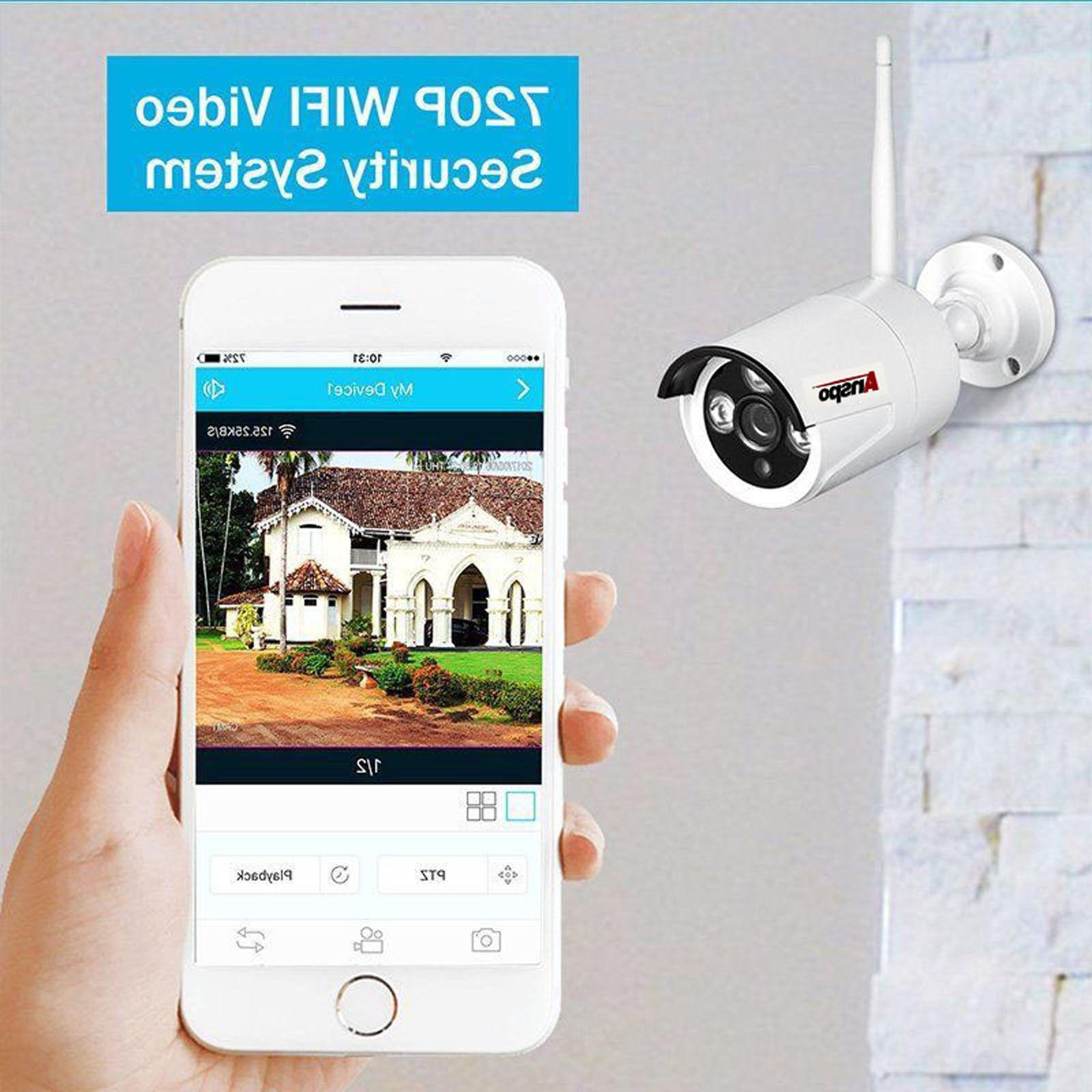 Anspo 4/8CH Security Camera Night Vision