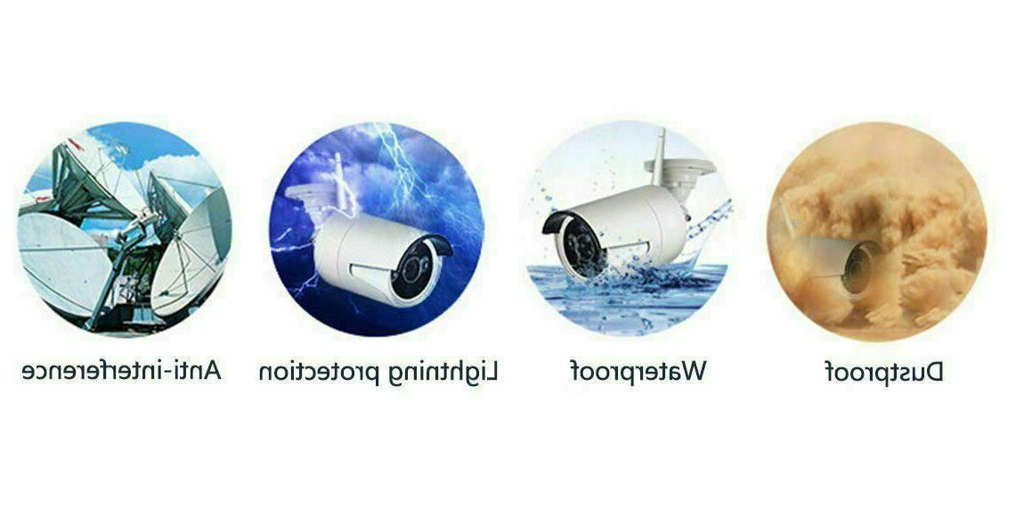 4CH Wireless 1080P Outdoor 720P WIFI Camera CCTV System-Video