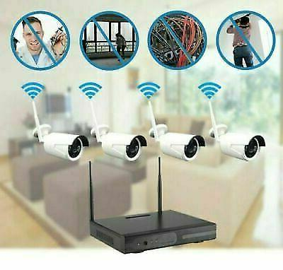 4CH Wireless 1080P Outdoor IR IP WIFI System-Video