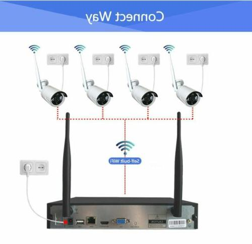 4CH NVR Outdoor WIFI CCTV Security System-Video