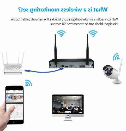 4CH Wireless 1080P Outdoor WIFI Camera System-Video