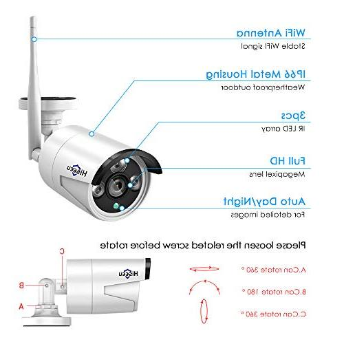 System 4 Channel 1080P 960P 1.3MP Night Vision IP Security Surveillance Plug&Play,Easy Remote View,1TB Pre-Install