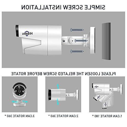 Wireless Security System Outdoor,HisEEu 4 Channel 1080P 1.3MP Security Surveillance Cameras Plug&Play,Easy Pre-Install