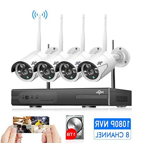 4ch wireless security system night