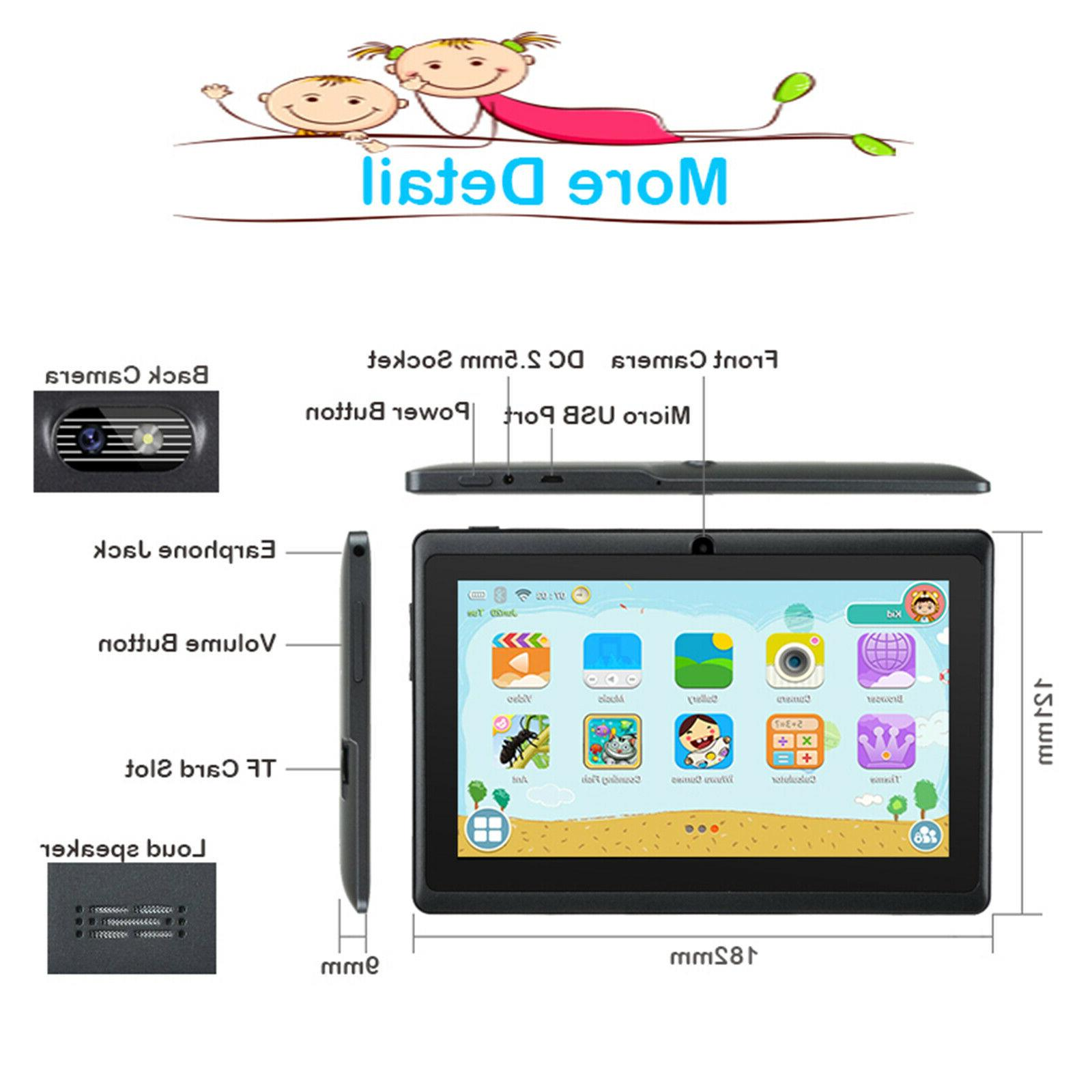 "7"" Android PC For Kids Dual WiFi Bundle Case"